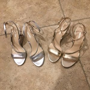 2 For 1 - Gold And Silver Strappy Sandals
